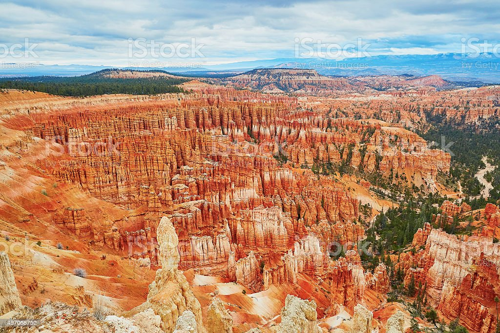 Scenic landscape in Bryce Canyon, Utah, USA stock photo