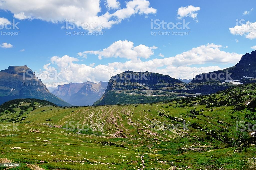 Scenic landscape in Glacier National Park royalty-free stock photo