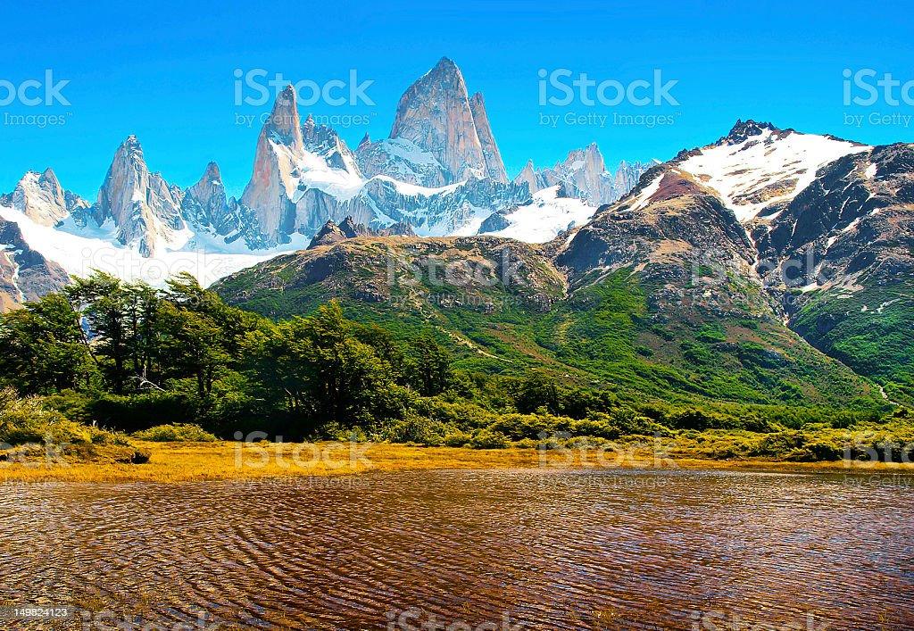 Scenic landscape in Patagonia, South America stock photo