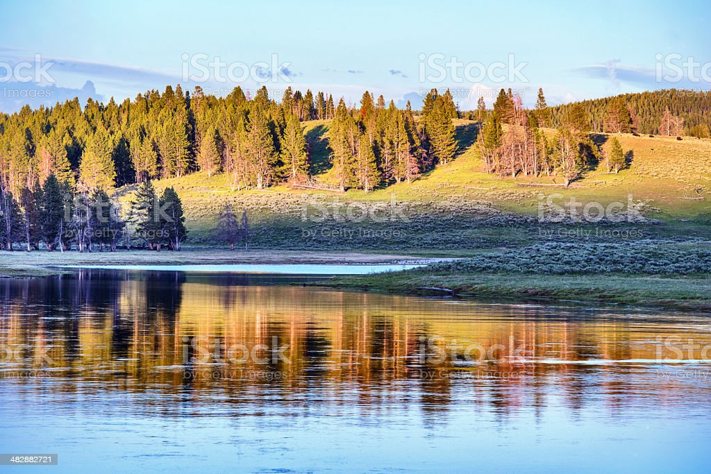 Scenic Landscape in Yellowstone National Park Wyoming royalty-free stock photo