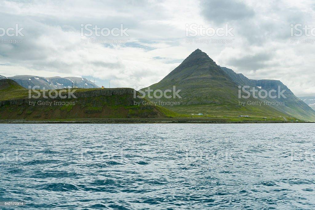 Scenic landscape near Reykjavik in Iceland stock photo