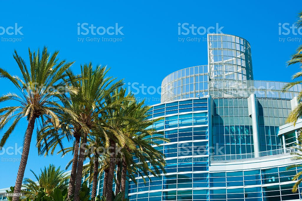 Scenic landscape of Anaheim Convention Center stock photo