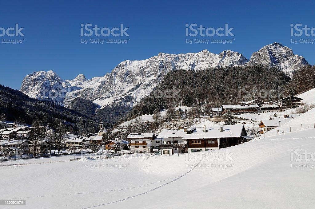 Scenic landscape of Reiteralpe mountain stock photo