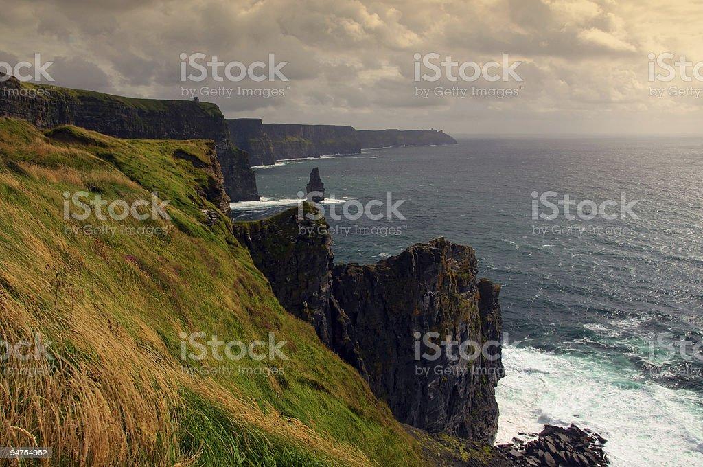 scenic landscape sea from ireland royalty-free stock photo