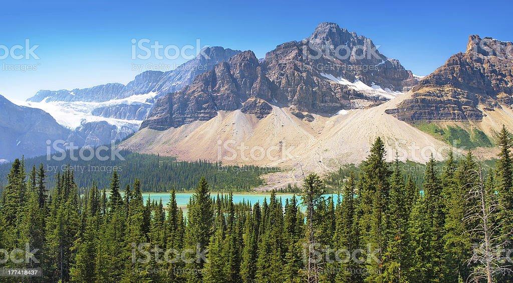 Scenic landscape with Rocky Mountains in Alberta, Canada stock photo