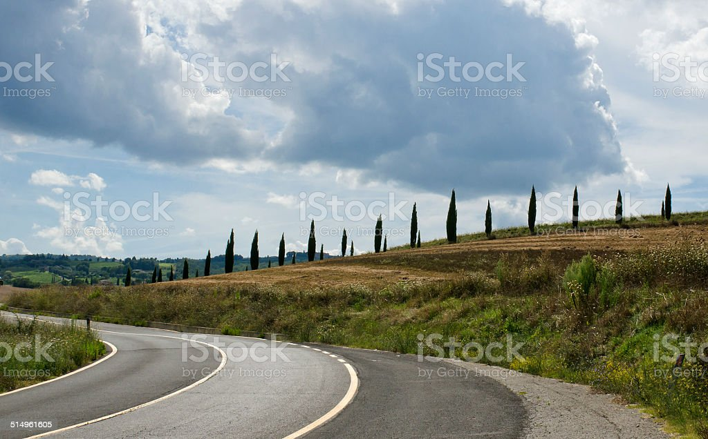 scenic landscapes of a beautiful Tuscany stock photo