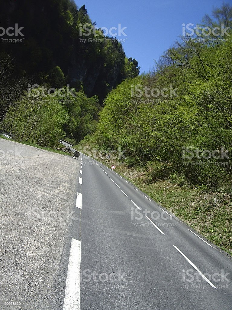 Scenic layby royalty-free stock photo