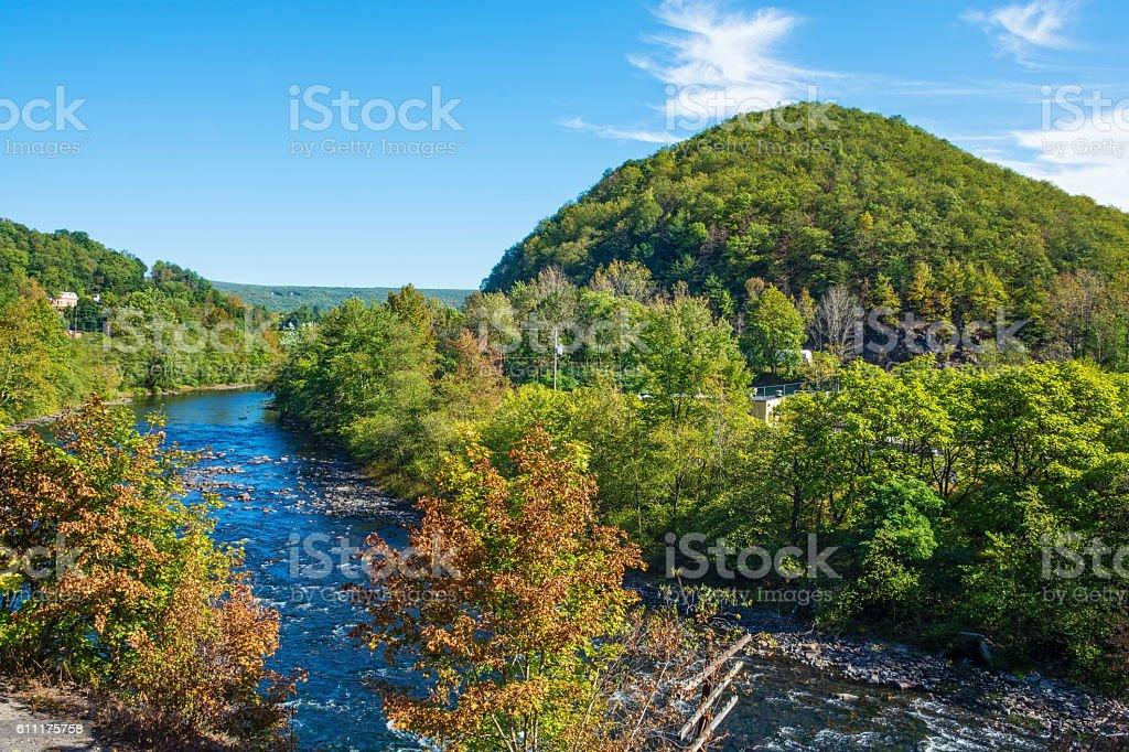 Scenic Lehigh River stock photo