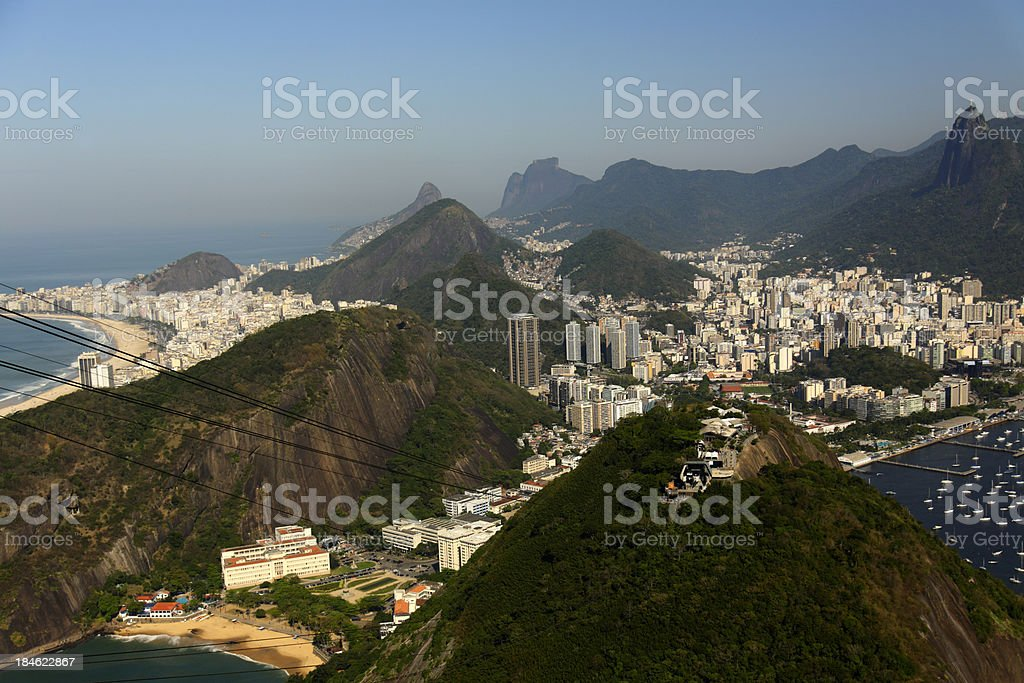 Scenic Lookout of Rio de Janeiro royalty-free stock photo