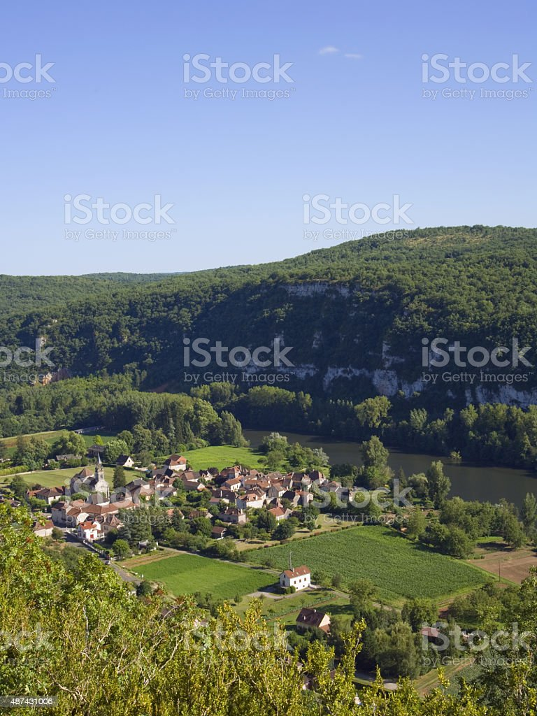 Scenic Lot Valley,  France stock photo