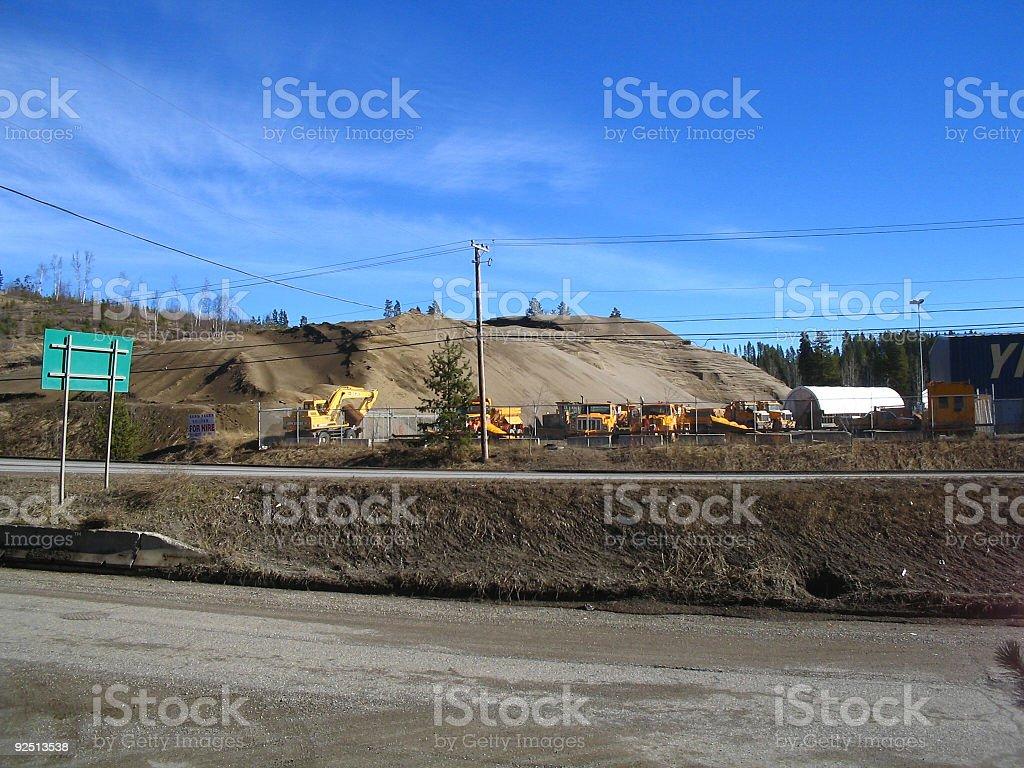 Scenic machinery stock photo