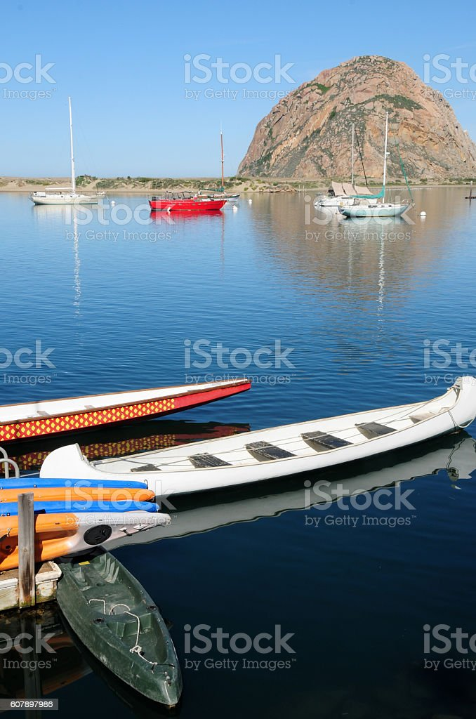 Scenic Morro Bay, Caliofrnia stock photo