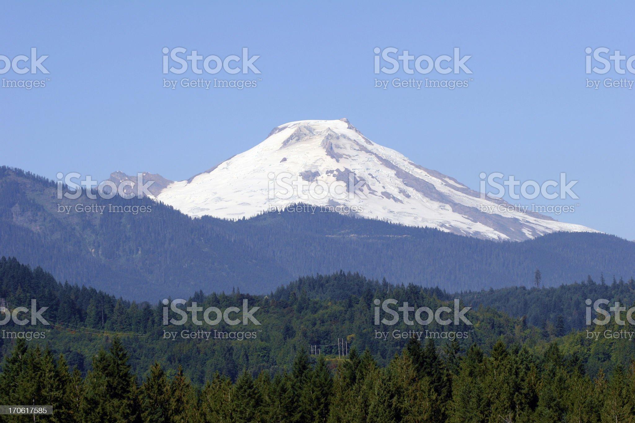 Scenic Mount Baker royalty-free stock photo