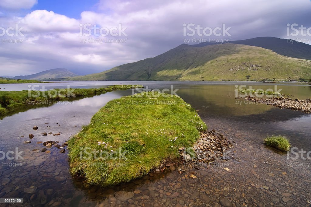 scenic mountain and water landscape royalty-free stock photo