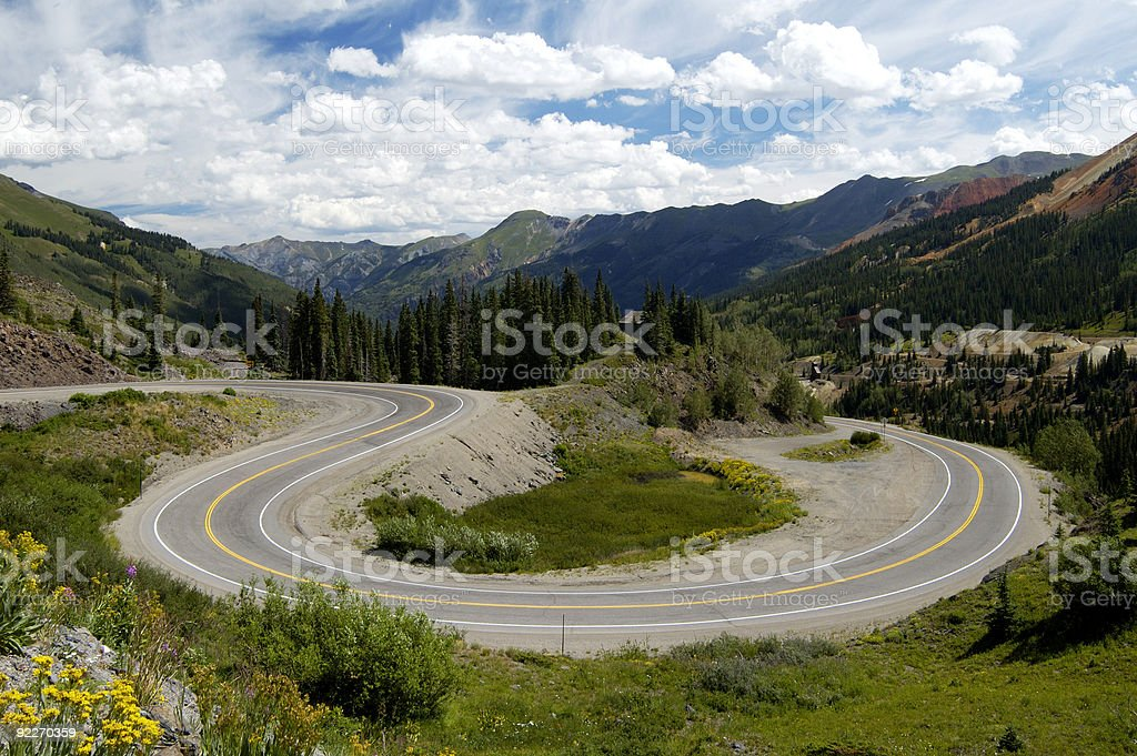 Scenic Mountain Highway stock photo