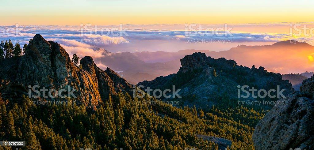 Scenic Mountain Landscape,Gran Canaria,Spain. stock photo