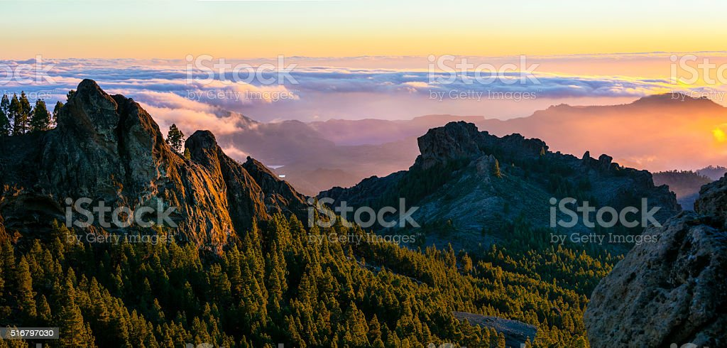 Scenic Mountain Landscape,Gran Canaria,Spain. stock photo