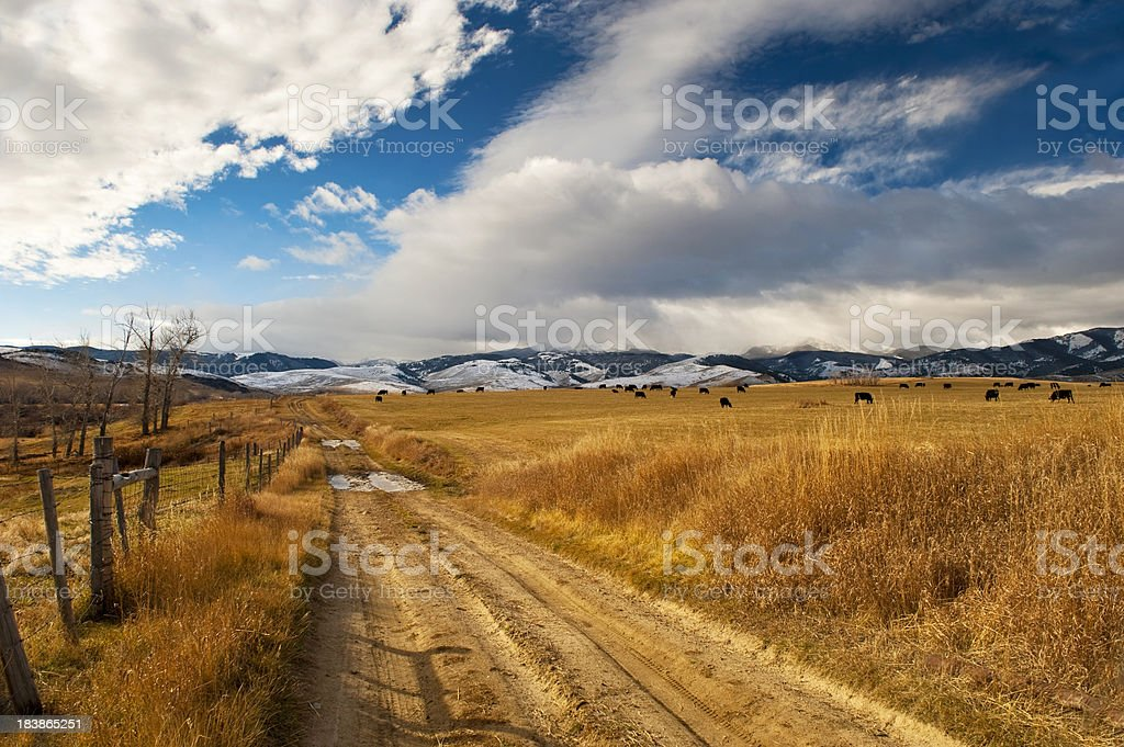 scenic mountain road royalty-free stock photo