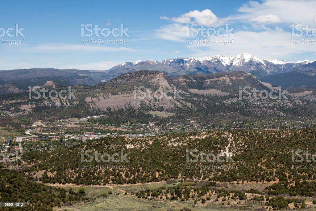 Scenic mountain town of Durango, Colorado stock photo