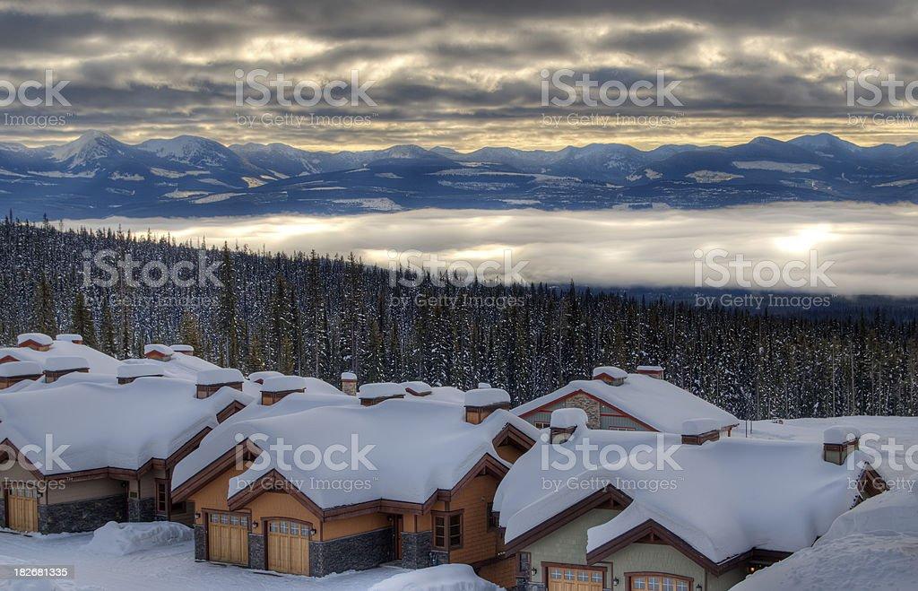 Scenic mountain view, Big White, BC stock photo