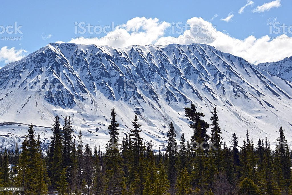 Scenic Mountains in Alaska stock photo