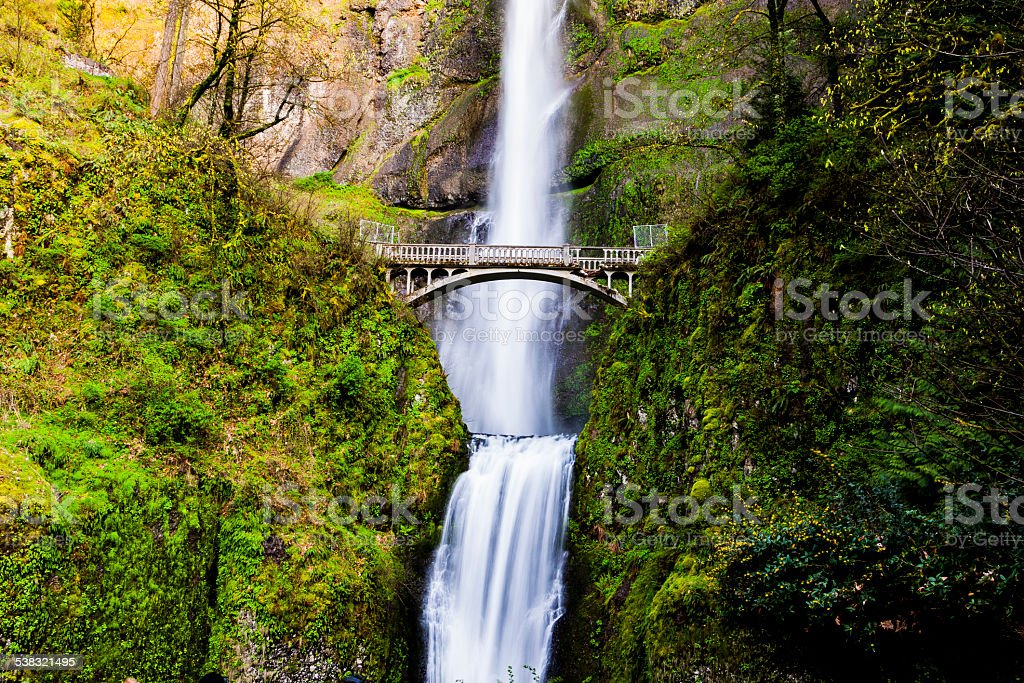 Scenic Multnomah Falls in Oregon stock photo