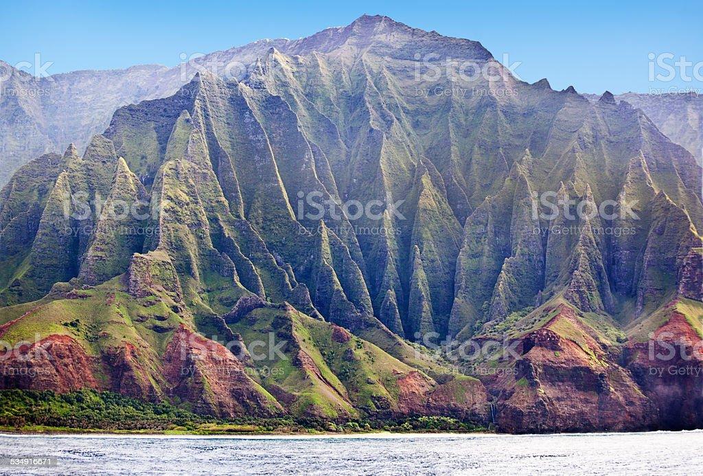 Scenic Na Pali Coast of Kauai Horizontal stock photo