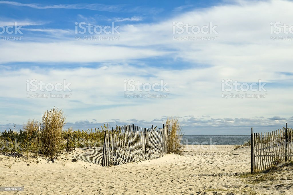Scenic New Jersey Beach Setting stock photo