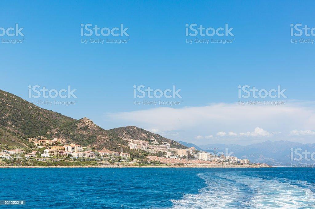 Scenic of Bastia,Corsica. stock photo
