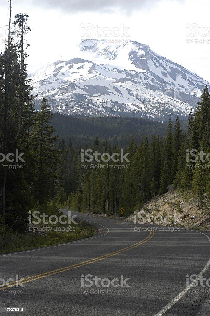 Scenic Oregon Highway 2 royalty-free stock photo