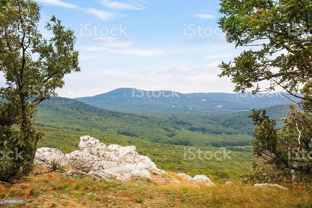 Scenic overlook stock photo