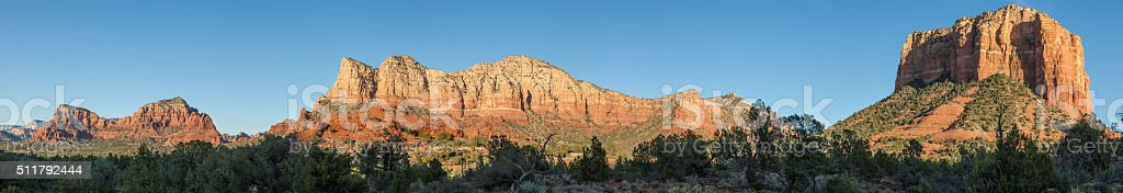 Scenic Pano of Sedona Arizona stock photo