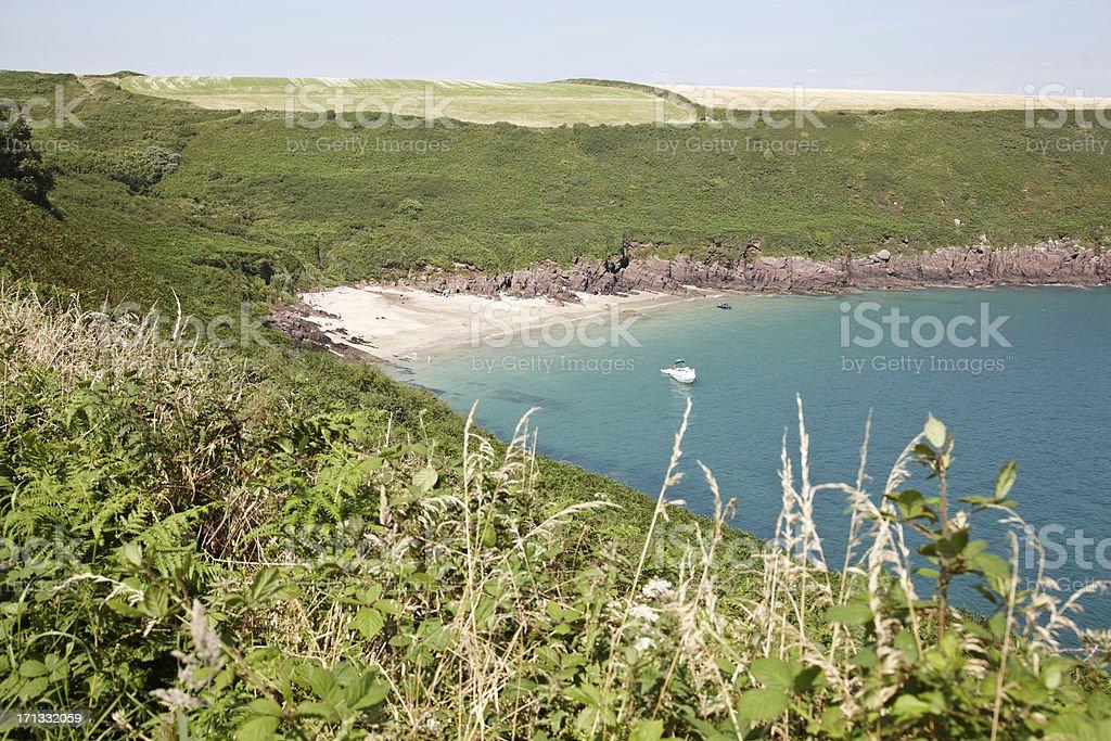 Scenic panorama across Pembrokeshire Coast royalty-free stock photo