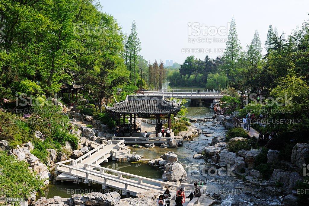Scenic Park in Yangzhou China stock photo