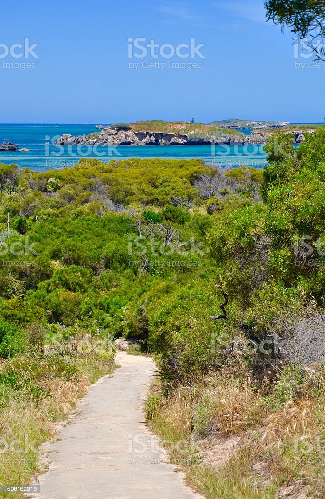 Scenic Path: Indian Ocean, Western Australia stock photo