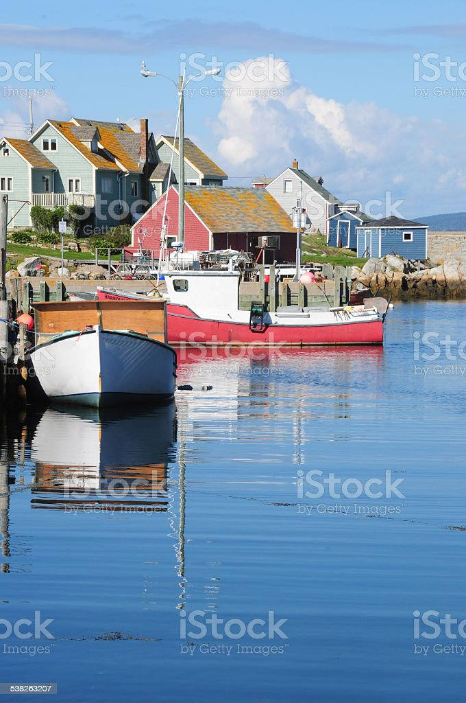 Scenic Peggy's Cove, Nova Scotia, Canada stock photo