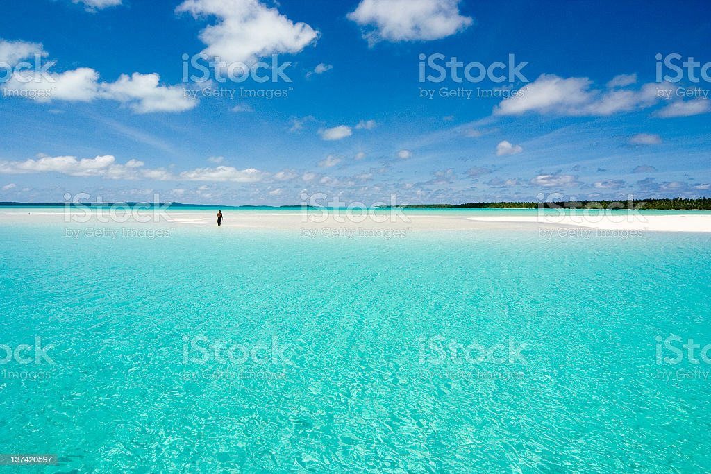 Scenic photo of a clear sea and beach  royalty-free stock photo