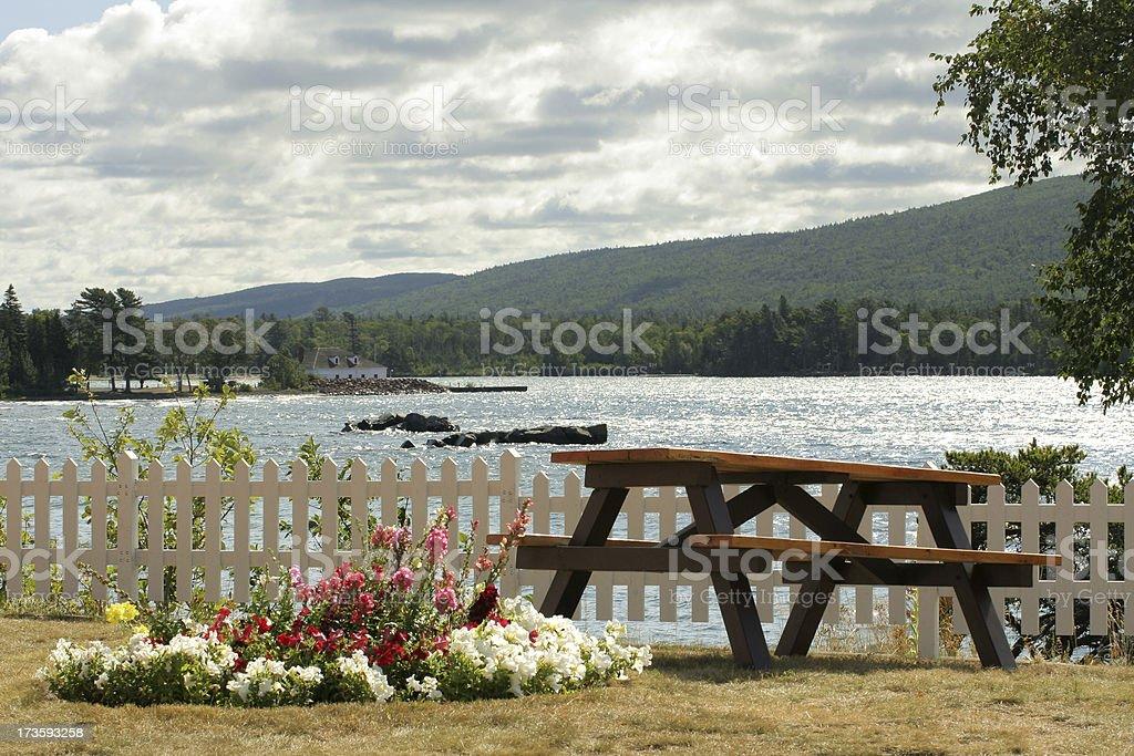 Scenic Picnic stock photo