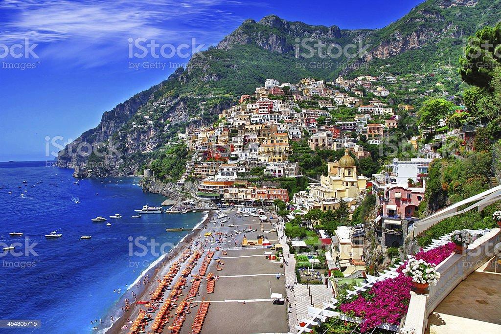 scenic Positano stock photo