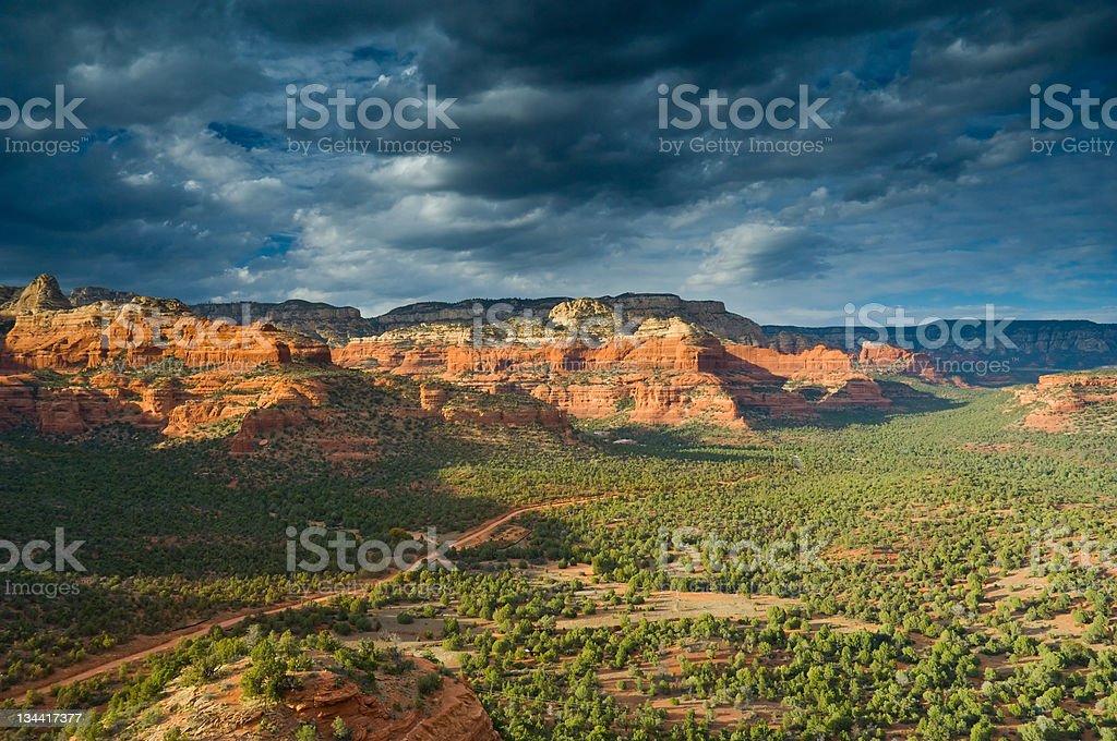 Scenic Red Rock View Sedona Arizona royalty-free stock photo
