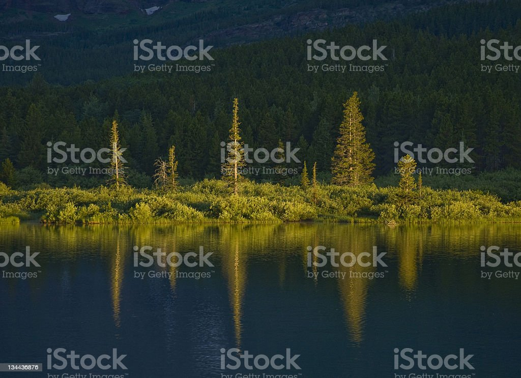 Scenic Reflection in Alpine Mountain Lake royalty-free stock photo