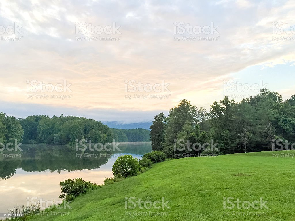 Scenic Reservoir of Charlottesville stock photo