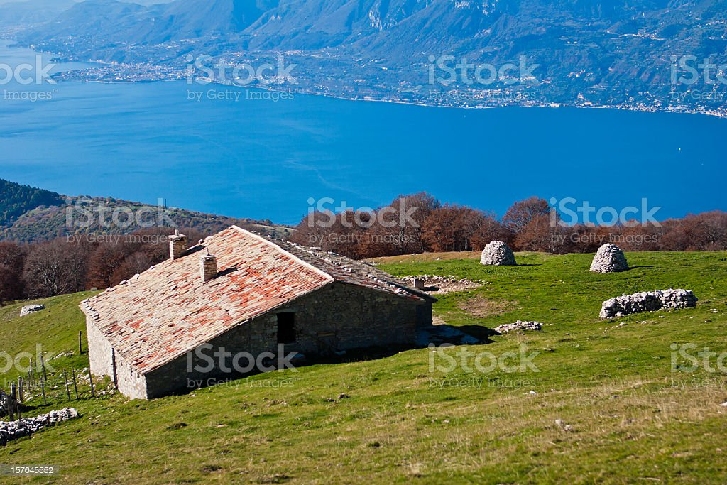 Scenic Retreat on Monte Baldo stock photo