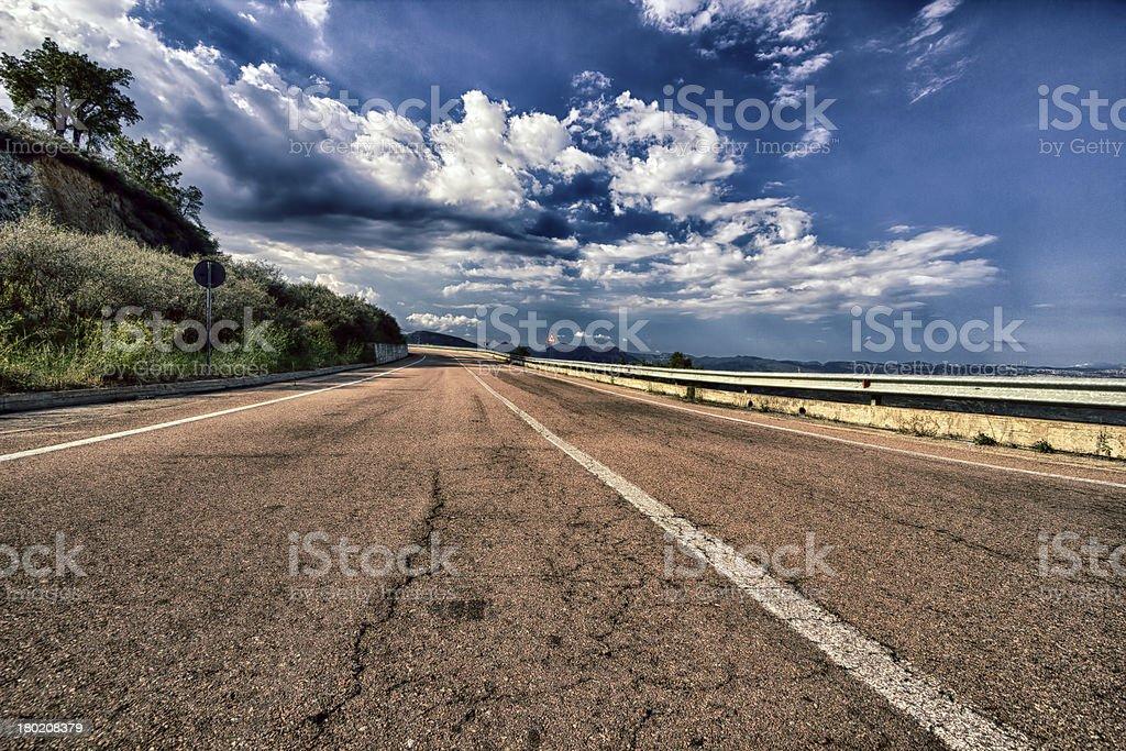Scenic Road in Sardinia royalty-free stock photo