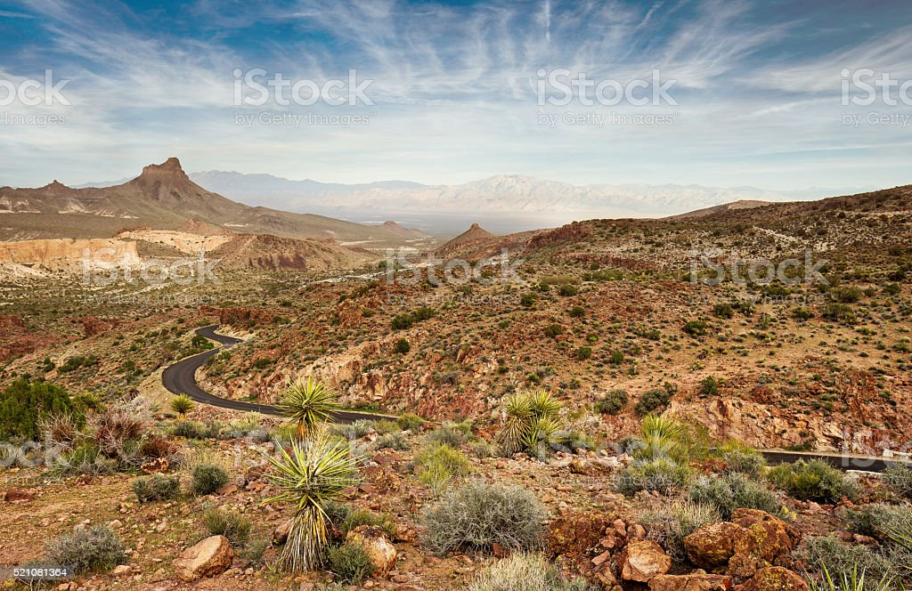 scenic road in the national park stock photo