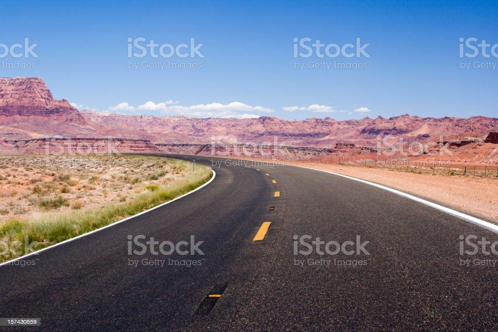 Scenic Road in Utah royalty-free stock photo