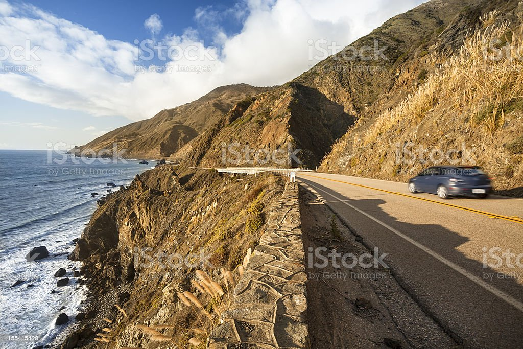 Scenic road on the Big Sur, Coastline and sea California royalty-free stock photo