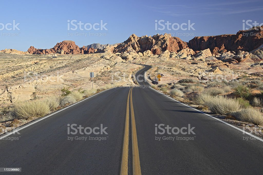 Scenic Road - Valley of Fire State Park, Nevada, USA royalty-free stock photo
