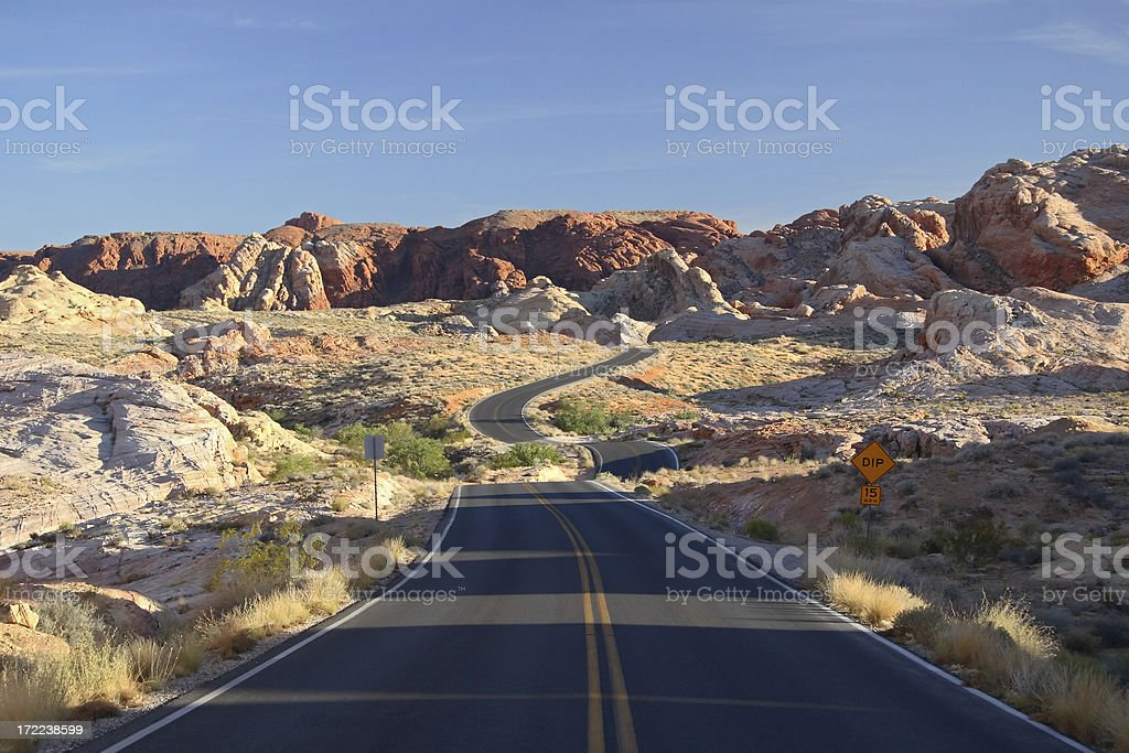 Scenic Road - Valley of Fire State Park, Nevada, USA stock photo
