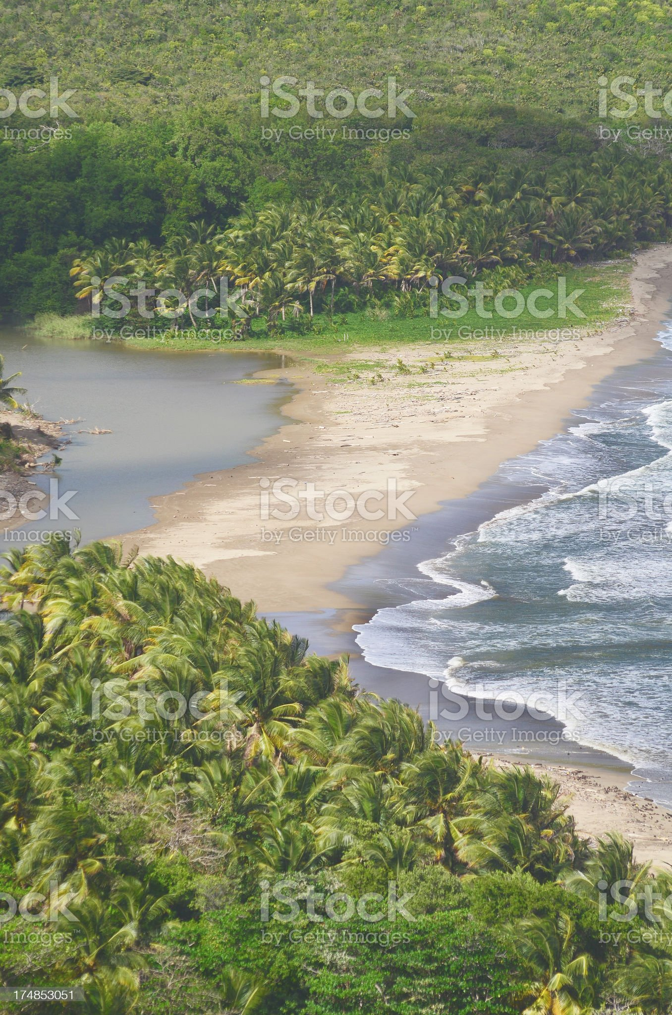 scenic rough beach with sand bank royalty-free stock photo